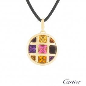 Cartier Yellow Gold Multi-Gemstone Pasha Necklace B3020200